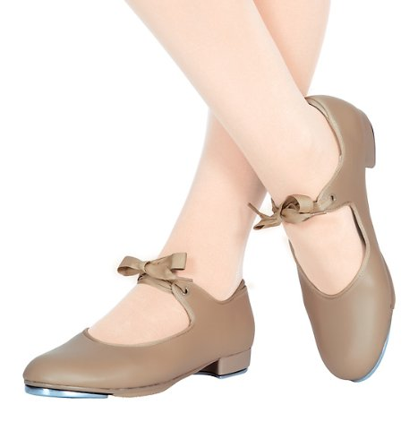 Adult Beginner Tap Shoe with Ribbon Tie,T9000PAT07.0M,Patent,07.0 M