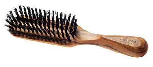 Hydrea London Olive Wood Rectangular Hair Brush With Pure Bore Bristle WOS1 (Rectangular Hair Brush compare prices)