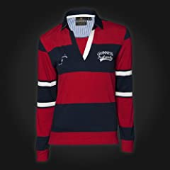 Guinness Red Navy Stripe Ladies Rugby