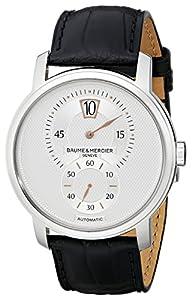 Baume & Mercier Men's A10039 Black Leather Strap Automatic Watch