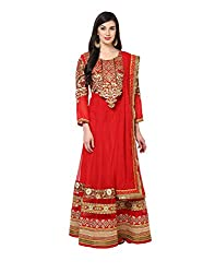 Yepme Alied Lehenga Choli Set - Red -- YPMLEHG0009_Free Size