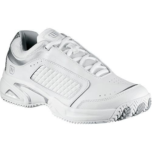Wilson Pro Staff Victress Women's Tennis Shoe - White/Silver
