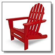 Classic Recycled Plastic Adirondack Chair Red