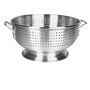 12 Qt. Aluminum Colander Heavy Duty with Base and Handles by CHEFS