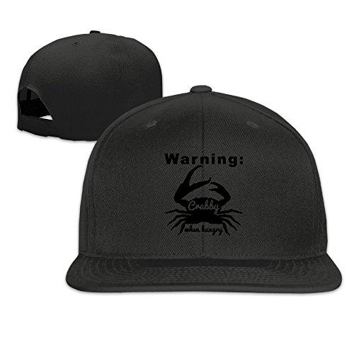 mens-warning-crabby-when-hungry-funny-adjustable-cap-baseball-hat