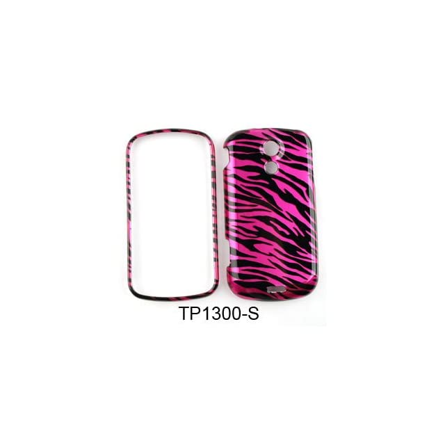 Snap on Cover Faceplate for Sprint Samsung Galaxy S2 Epic Touch 4G D710 Transparent Design, Hot Pink Zebra Print