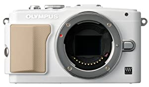 Olympus E-PL5 16MP Compact System Camera with 3-Inch LCD, Body Only(White)
