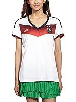 adidas Camiseta de Fútbol DFB Trikot Home WM 2014 (Blanco / Negro)