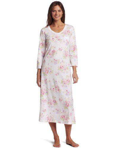Carole Hochman Women's Floral Tea Pots Long Gown