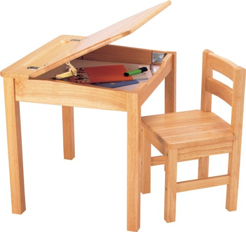 Pintoy Natural Wooden Desk and Chair