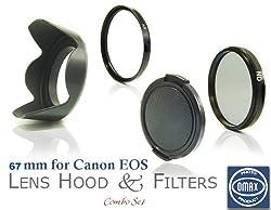 Omax 67mm Digital Filter Kit + UV + ND + Lens Hood + Lens Cap for Canon EOS 550D 600D