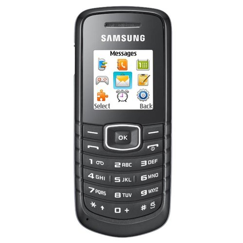 Samsung E1080 Unlocked Dual-Band GSM Phone - International Version with Warranty (Black) - NOT for use in the USA