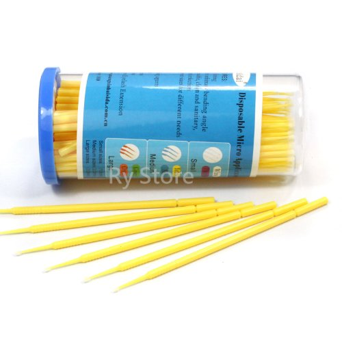 S / M / L Disposable Micro Brush Swab Applicators Eyelash Extension 100ps Choose (M 2.0mm) (Micro Brush Swab compare prices)