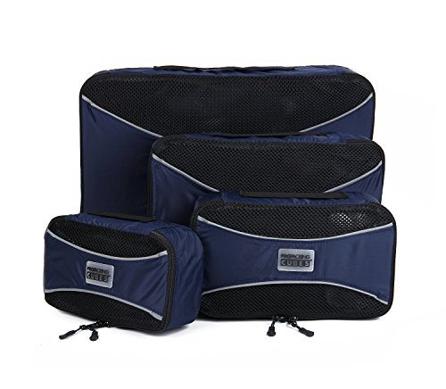 PRO Packing Cubes | 4 Piece Travel Packing Cube Value Set |!! | Ultra Lightweight Luggage Organizers | Great for Duffel Bags, Carry on Luggage, and Backpacks (Navy) (Packing Made Simple compare prices)