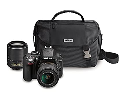 Nikon-D3300-DX-format-DSLR-Kit-w/-18-55mm-DX-VR-II-&-55-200mm-DX-VR-II-Zoom-Lenses-and-Case