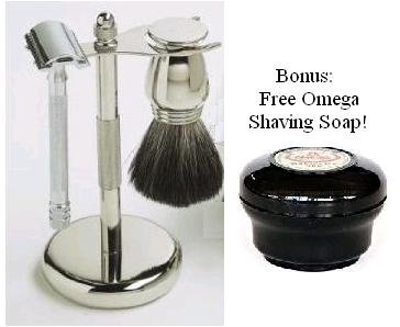 Best Cheap Deal for Simply Beautiful Shaving Gift Set with Merkur Razor, Stand, Brush, and Omega Soap by SimplyBeautiful - Free 2 Day Shipping Available