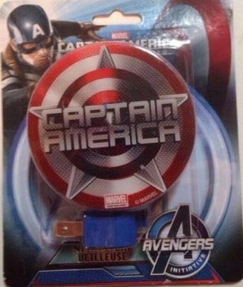 Marvel Avengers Initiative Captain America Night Light