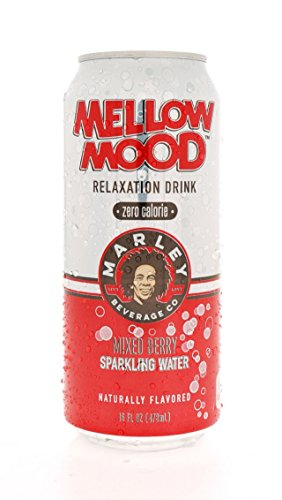 8 Pack - Marley Mellow Mood Relaxation Drink - Zero Calorie - Mixed Berry Sparkling Water - 16oz. (Energy Drinks Red Line compare prices)