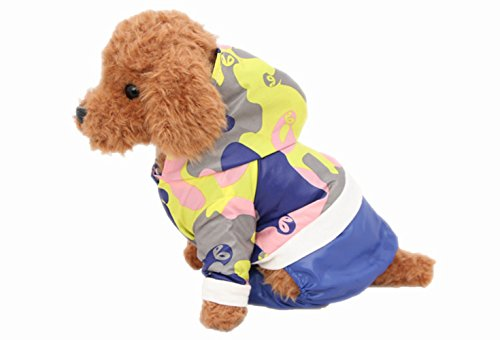 [Army Green Camouflage Jumpsuit for Pet Dog Clothes Puppy Doggy Apparel (S)] (Weenie Costumes)