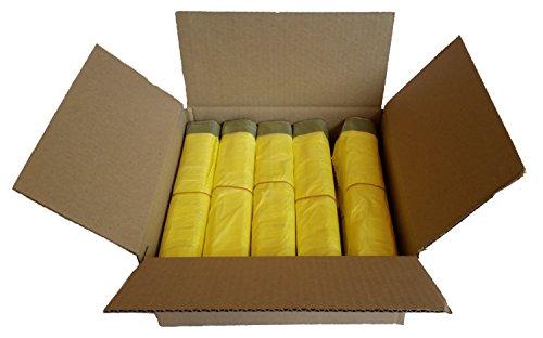 gelber sack ein karton mit 10 rollen 130 gelbe s cke 15 m folienst rke. Black Bedroom Furniture Sets. Home Design Ideas