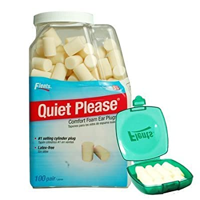 Flents Quiet Please Foam Ear Plugs Nrr29 (1 - 100 Count with Flents Green Case)