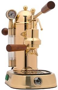 la pavoni pg 16 romantica 16 cup espresso machine brass manual piston espresso. Black Bedroom Furniture Sets. Home Design Ideas