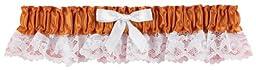 Hortense B. Hewitt Wedding Accessories Ribbon and Lace Garter, Spice