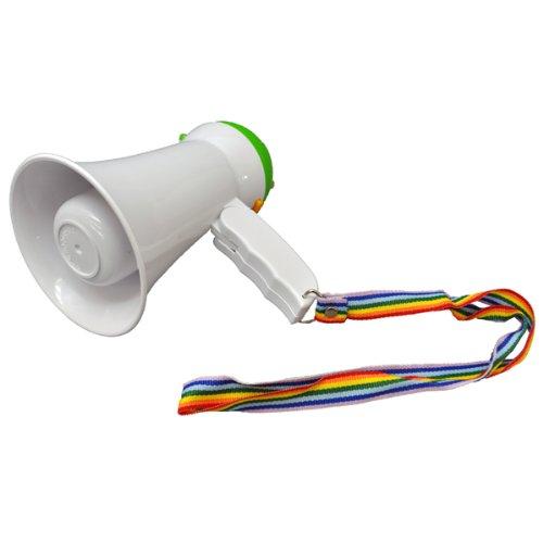 ・メガホン 応援 拡声器 小型 サイレン付きハンドメガフォン