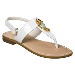Product Image Girls' Miss Trish for Target® Seahorse Thong Sandals - White Patent