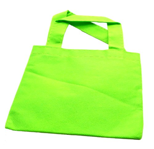 WeGlow International Miniature Tote Bags - Pack Of 12, Lime - 1
