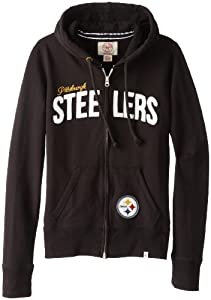 NFL Pittsburgh Steelers Ladies Pep Rally Full Zip Hoodie by