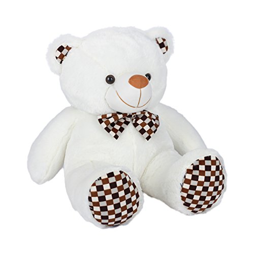 Kuddles-2-Feet-Fluffy-Polka-Teddy-Bear-Soft-Toys-by-Ultra-White