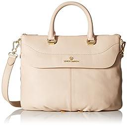 Vince Camuto Dean Satchel Bag, Rich Cream, One Size