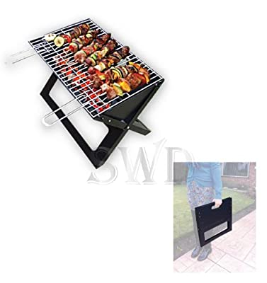 Large Portable Folding Barbecue Bbq Cooker Grill Camping Fire Pit Collapsable