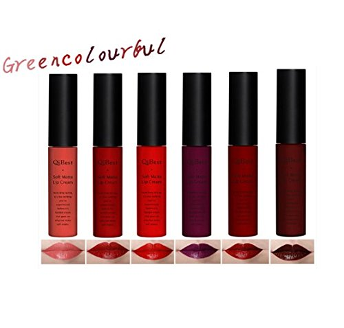 Redcolourful Fashionable Matte Lipsticks New Nonstick Cup and Do Not Fade Liquid Lipsticks for Lip-Makeup(1 Set includes 6 Colours)(A)