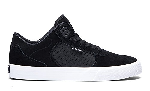 SUPRA Skateboard Shoes ELLINGTON VULC BLACK-WHITE Size 9.5