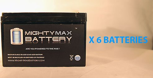 Ml15-12 12V 15Ah F2 Battery Currie I-Zip Electric Chopper Evx12120 - 6 Pack