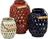 IMAX Bailey Lattice Lanterns, Set of 3
