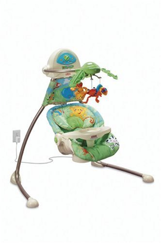 Fisher-Price Rainforest Open-Top Cradle Swing Review