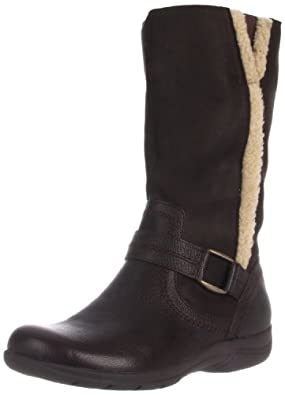 Clarks Women's Chris Perth Boot,Dark Brown,12 M US
