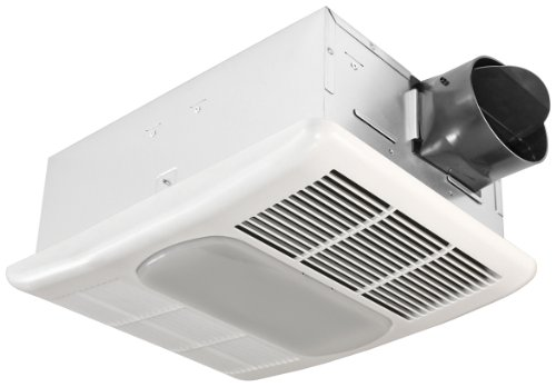 Delta BreezRadiance RAD80L 80 CFM Exhaust Fan with Light and Heater (Exhaust Fan Adapter compare prices)