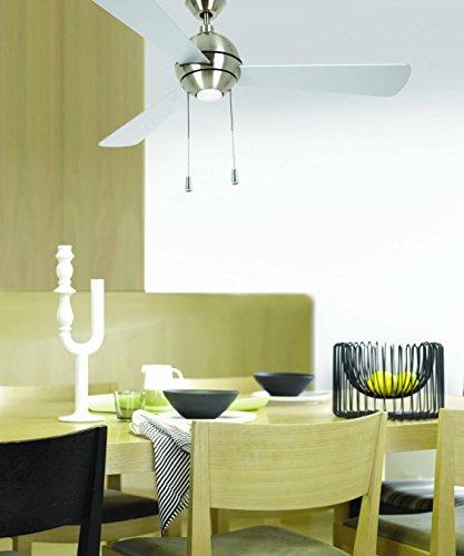 LUCCI AIR, Ventilatore da soffitto, incl. Lampadina LED con catenella