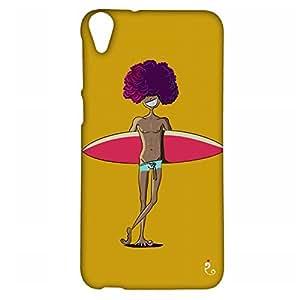 RANGSTER The Surfer-Goa-Matte Finish Mobile Case For HTC Desire 820-Yellow