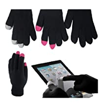 2 Pairs Solid Color Touch Screen Texting Magic Gloves Smartphone Tablet Gift.