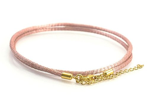 Pink Italian Brass Mesh Choker With Sterling Silver Clasp - 2.5 Mm Thick