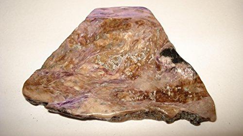 (#4) (**Hot New Item**) 1Pc 22 Gram Charoite Slab Shaped Polished (Both Sides) Crystal Gemstone Specimen (Very Limited Quantity)