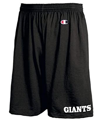 Buy GIANTS BLACK POLYESTER GYM SHORTS by STUFF WITH ATTITUDE - GIANTS