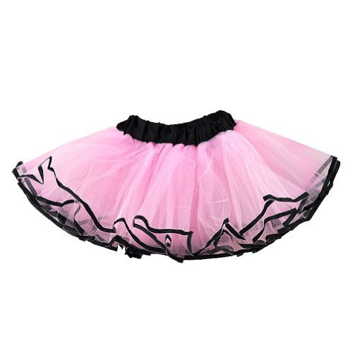 Tutu With Black Ribbon Edge (More Colors...) Select Color: pink