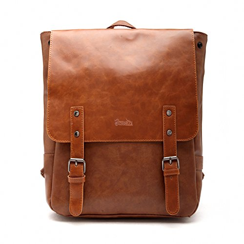 05. Good&god Pu Crazy Horse Leather-Like Vintage Women's Backpack School Bag