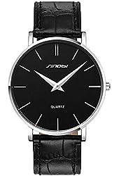 Sinobi Ultra-thin Case Men's Causal Quartz Watch